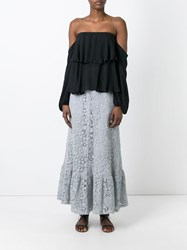 Red Valentino Lace Skirt Grey