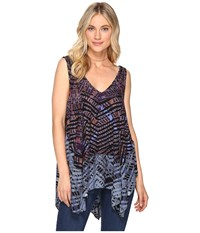 Free People Day Dreamers Tank Top Navy Women's Sleeveless