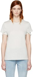 Helmut Lang Off White Strappy T Shirt