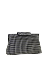 Whiting And Davis Crystal Clasp Clutch Bag Charcoal