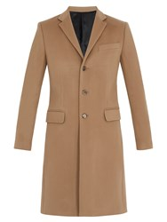 Givenchy Notch Lapel Wool And Cashmere Blend Overcoat Beige