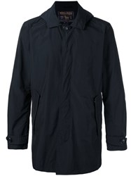 Woolrich Hooded Button Jacket Blue