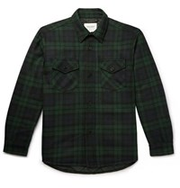Noon Goons Checked Woven Overshirt Green