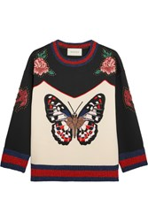 Gucci Embroidered Bonded Cotton Jersey Sweatshirt Ivory