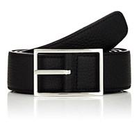 Simonnot Godard Men's Reversible Leather Belt Black Brown Blue Black Brown Blue