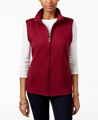 Karen Scott Quilted Zip Front Vest Only At Macy's Bordeaux