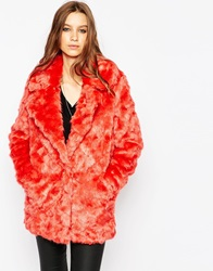 Urbancode Soft Faux Fur Coat Tobasco