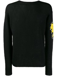 Prada Intarsia Logo Sweater Black
