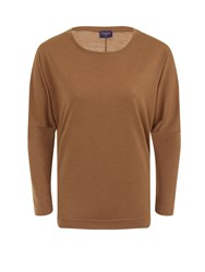 Hotsquash Batwing Top In Thinheat Fabric Brown