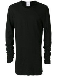 Lost And Found Rooms Longsleeved T Shirt Cotton Linen Flax Black