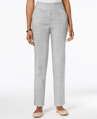 Alfred Dunner Allure Pull On Pants Grey