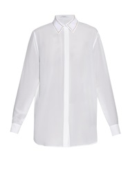 Givenchy Studded Collar Silk Shirt
