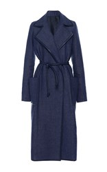 Martin Grant Denim Trench Coat Navy