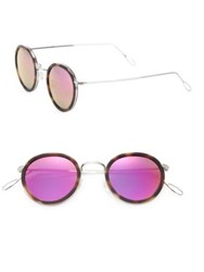 Kyme Matti 46Mm Oval Sunglasses Havana Pink