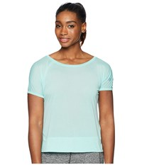Asics Legends Crop Top Opal Green Short Sleeve Pullover