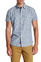 Grayers Pattison Chambray Short Sleeve Regular Fit Shirt Blue