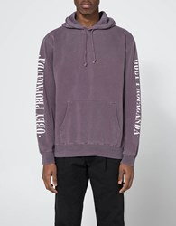 Obey New Times Propaganda Hooded Fleece In Eggplant