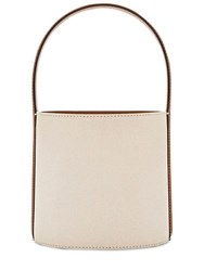Staud Bissett Canvas And Leather Top Handle Bag Natural
