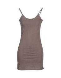 Velvet Short Dresses Dove Grey