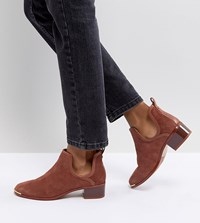 Ted Baker Twillo Suede Mid Heel Boot Tan