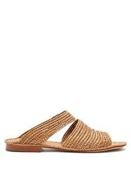 Carrie Forbes Ahmed Raffia Sandals Tan