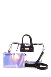 Hunter Original Large Clear Midi Tote Purple