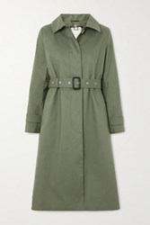 Mackintosh Roslin Bonded Cotton Trench Coat Army Green