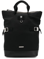 Saint Laurent Two In One Bag Cotton Leather Black