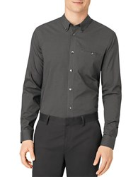 Calvin Klein Regular Fit Cross Print Sportshirt Black