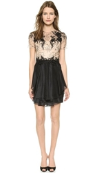 Notte By Marchesa Short Sleeve Cocktail Dress Black