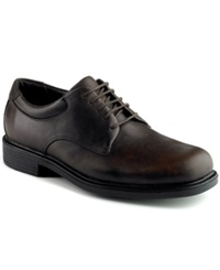 Rockport Margin Plain Toe Oxford Dress Shoes Men's Shoes Chocolate