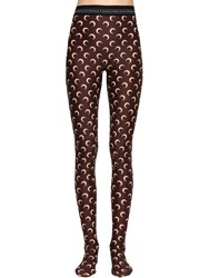 Marine Serre Moon Printed Stretch Jersey Leggings Brown