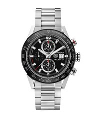 Tag Heuer Ceramic And Steel Bracelet Watch Car201zba0714 Silver