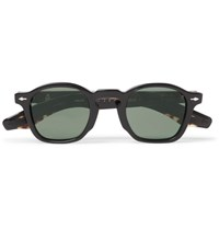 Jacques Marie Mage Zephirin Round Frame Acetate Sunglasses Black