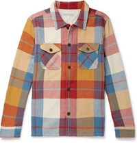 Outerknown Checked Brushed Organic Cotton Twill Shirt Multi