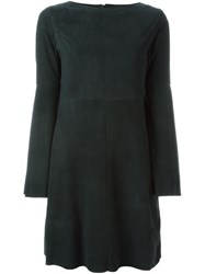 Drome Panelled Dress Green