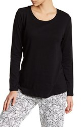Joe Fresh Long Sleeve Scoop Neck Tee Black