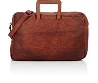 Campomaggi Men's Retractable Handle Briefcase Brown