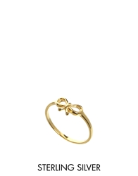 Asos Gold Plated Sterling Silver Bow Ring