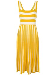 Chinti And Parker Mixed Striped Dress Yellow And Orange