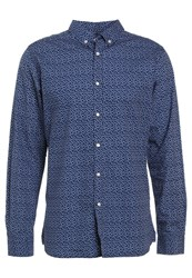 Knowledge Cotton Apparel Dot Printed Poplin Shirt Peacoat Blue