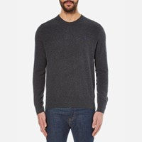 Polo Ralph Lauren Men's Crew Neck Merino Wool Knitted Jumper Charcoal Marl Grey