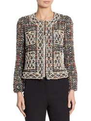 Edward Achour Pearl Wool Tweed Jacket Black