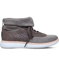 Ugg Islay Leather Knit Sock Trainers Grey
