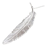 Nighthawk Jewelry Fly Right Feather Mega Pendantsterling Silver