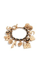 Wgaca What Goes Around Comes Around Chanel Leather Illuster Bracelet Gold
