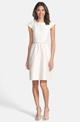 Women's Alfred Sung Woven Fit And Flare Dress Champagne