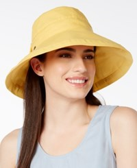 Scala Cotton Canvas Bow Kettle Hat Natural