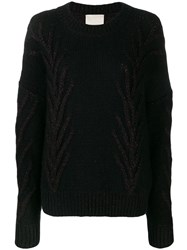 Marco De Vincenzo Glitter Detail Sweater Black