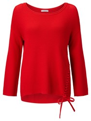 Marella Sorriso Ribbed Jumper Red